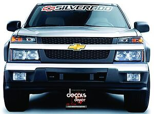 Chevrolet Chevy SILVERADO Windshield Banner Graphics Vinyl Decal - Chevy windshield decals trucks