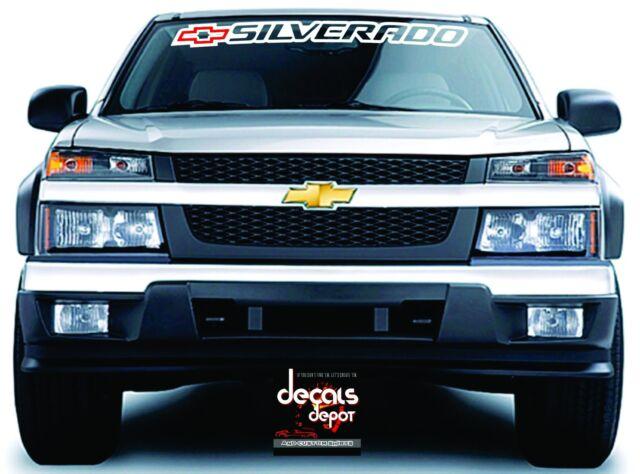 Chevrolet Chevy SILVERADO Windshield Banner Graphics Vinyl Decal Sticker