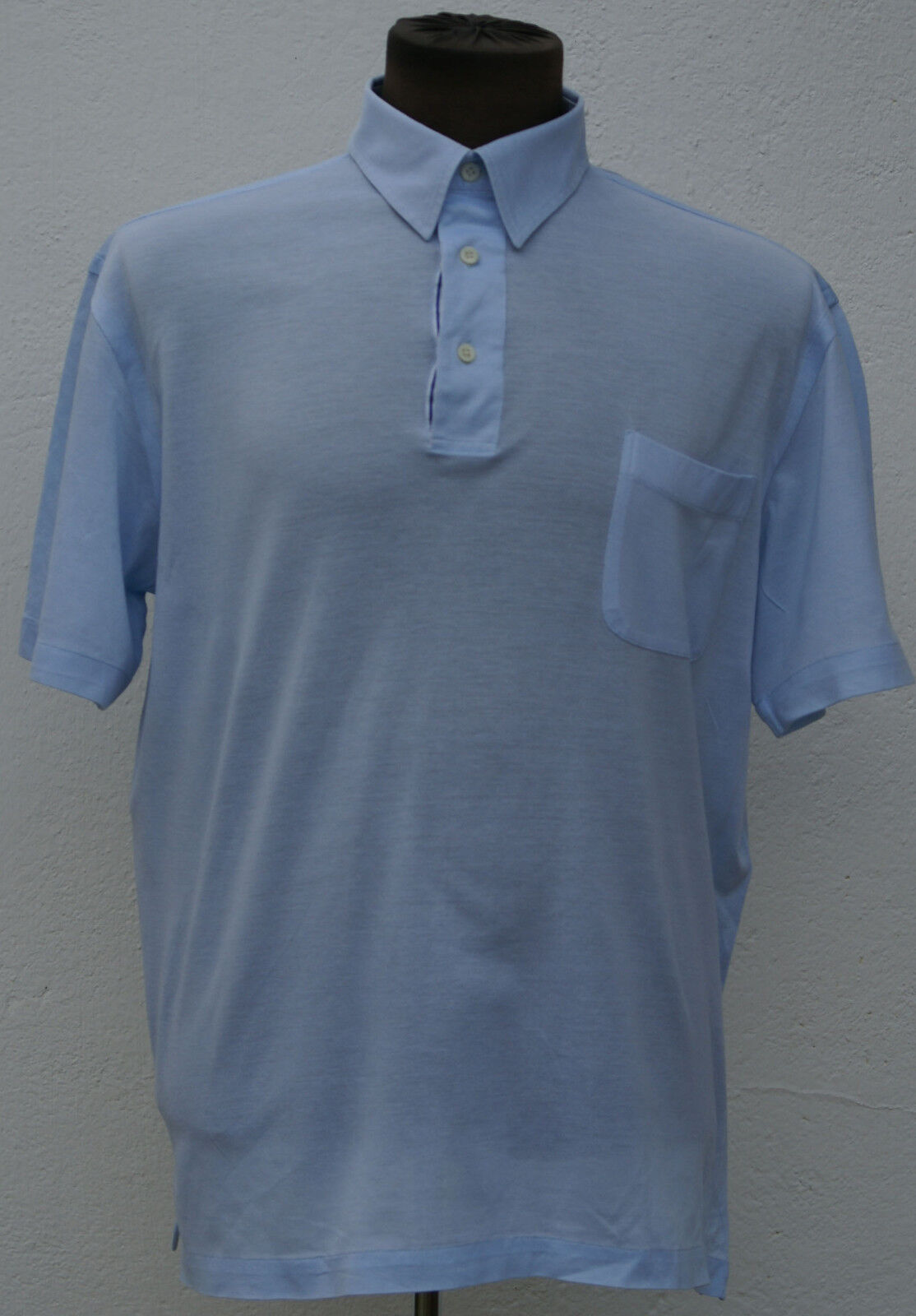 Brioni light bluee polo t-shirt sz XL