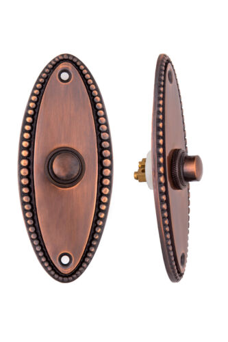 Beaded Doorbell Button **Huge Closeout Sale** Solid Brass