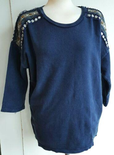 ZARA Womens Top Jersey Indian Mirror Sweatshirt Trafaluc Woman Casual S M £22.99