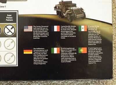 Testors Model Kit WWII M3A2 Halftrack Painted 1:35 scale Skill level 1 NEW