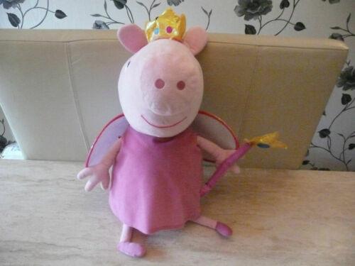 VGC***TY PEPPA PIG JUMBO FAIRY PRINCESS PLUSH SOFT TOY DOLL TEDDY***GEORGE