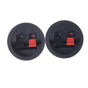 Runde-Flush-Sub-Lautsprecher-Box-Terminals-Draht-Binding-Post-Push-SubwoofeRS-dx