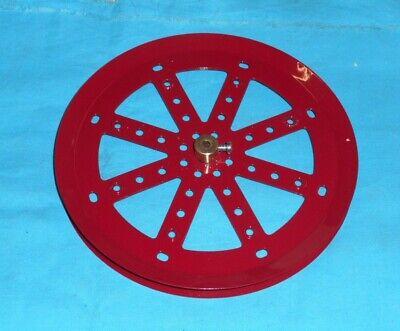 No.146 rouge meccano repro 1 plaque circulaire 15cm