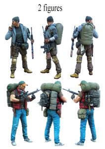 1//35 Resin Zombie is Coming 2 Walking Dead Figures Unpaint Unbuild BL810