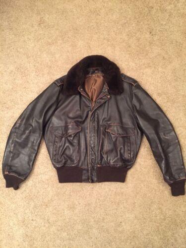 Vintage Schott Bomber Leather Flight Jacket