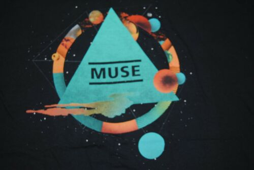 MUSE PYRAMID BLACK T SHIRT NEW OFFICIAL SHOWBIZ ABSOLUTION RESISTANCE 2ND LAW