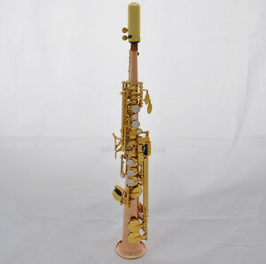 Details about Professional sopranino sax Rose brass Eb Sax Low B to High E  saxophone with case