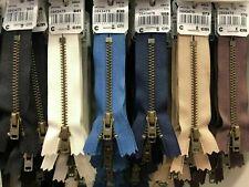 Reißverschluss Metall Gold Antik Dunkelgrün YKK Hose Röcke Rock Taschen Hosen