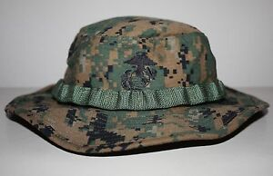 USMC Sekri MCCUU Woodland MARPAT Combat Boonie Hat Genuine Issue ... 27118976a8d