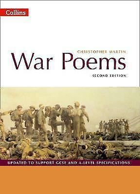 1 of 1 - War Poems by Christopher Martin Paperback Book