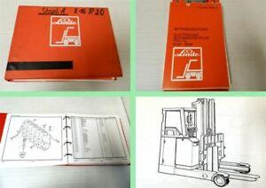 Linde-R16P-R20P-Typ-112-Stapler-Betriebsanleitung-Ersatzteilliste-1990