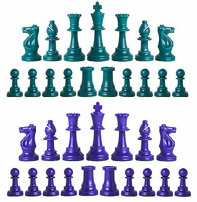 """WOODTEK 4.25/"""" KING 4X HEAVY WEIGHT TOURNAMENT SERIES CHESS PIECES"""