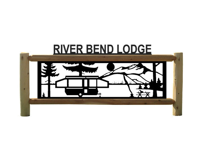 PERSONALISIERTE CAMPING LOG SIGN... TRAVEL TRAILLERS... POP-UP CAMPERS