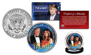 DONALD TRUMP /& MELANIA TRUMP OFFICIAL 2016 Presidential Kennedy Half Dollar Coin