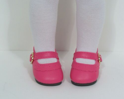 "CORAL PINK Classic Doll Shoes For 14/"" American Girl Wellie Wisher Wishers Debs"
