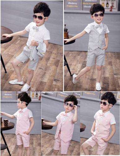 Boy Baby Formal Boys Suits 4 Piece Short Set Suit Waistcoat Suit Wedding Page