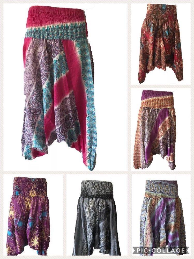 Gypsy Hippie Aladdin Hmong Baggy Patterned Harem Pants Men Women Hammer Trousers
