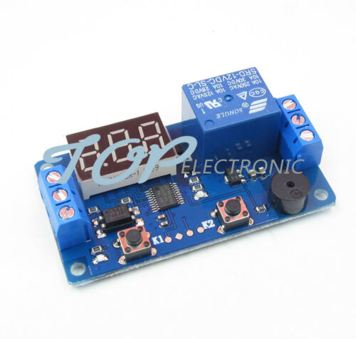 12V Display LED Timer Relay Programmable Module Delay Switch Board Car Buzzer
