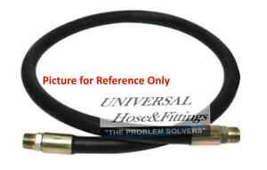 """1//4/"""" x 36/"""" 2-Wire Hydraulic Hose Assembly  with 1 Male Pipe 1 Male Pipe Swivel"""