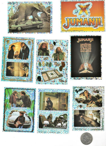 8 Official Classic Retro JUMANJI Movie 1995 Party Favors Decals Stickers Set Lot