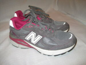 timeless design 9d433 2410c New Balance 990 Leather Running Shoes women's 9 pink gray ...