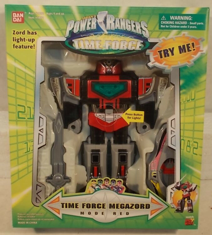 Power Rangers Time Force - 9 Medium Time Force Force Force Megazord Mode rosso (MISB) 108404