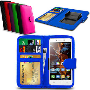 For-Blackberry-DTEK-50-Clamp-Style-PU-Leather-Wallet-Case-Cover