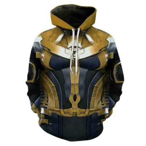 Avengers Endgame Thanos Hoodie Sweater Men/'s Women casual Hooded Cosplay Costume