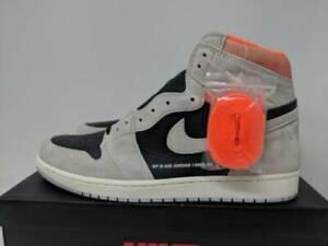 06a09682d488e2 Nike Air Jordan Retro I 1 High OG Neutral Grey Hyper Crimson 555088 ...