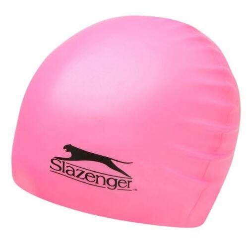 Boys Girls Junior Slazenger Lightweight Silicone Swimming Cap Swimwear