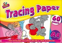 A4 60 Sheets Tracing Paper Pad - Arts Crafts Colours Drawing Children Creative
