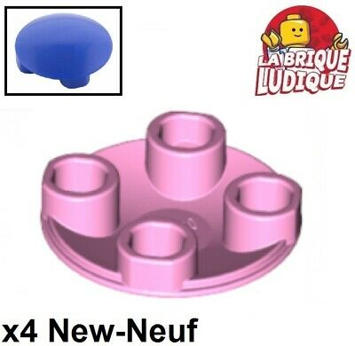 10x LEGO NEW 2x2 Dark Stone Grey Round Plate Rounded Bottom 4278274 Brick 2654