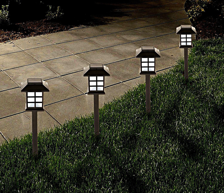 12x Énergie Solaire Oriental Lanterne LED Extérieur Jardin Éclairage Bordure