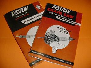 DISSTON-MODEL-DH-120-amp-DA-211-CHAINSAW-OPERATOR-039-S-HANDBOOKS-NEW