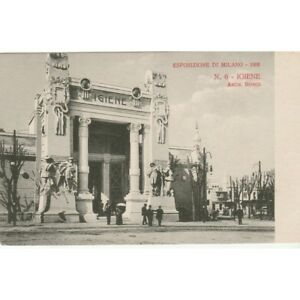 Postkarte Mailand Ausstellungsstück 1906 Pavillon Hygiene Nicht Reiste MF58541