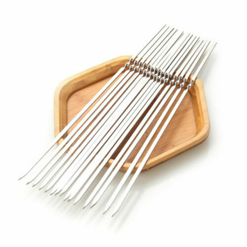 20PCS BBQ Skewers Stainless Steel Long Size Durable Metal Sticks for Barbecue