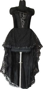 Long Dress Gothic Punk All Sizes Black Dress Sexy1480