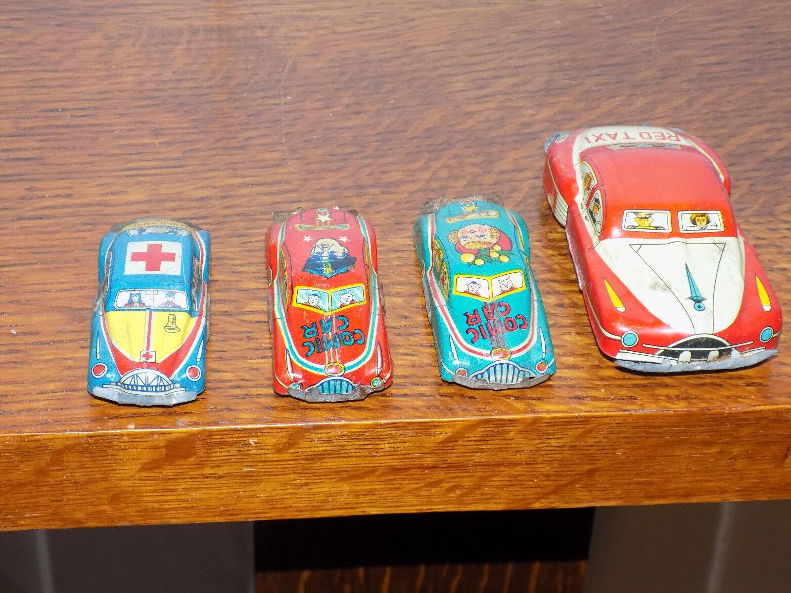 4 Tin Japan 1953 giocattolo autos