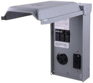 RV Power Pedestal GE 70 GFCI 20 & 50 Amp Breaker Receptacle Outlet ...