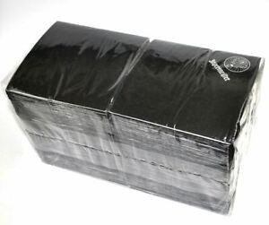 Grose-Packung-250-Stuck-Jagermeister-Cocktail-Servietten-Tucher-schwarz