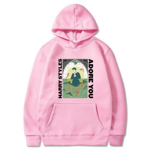 Men Women Harry Styles Adore you Hoodie Casual Sweatshirt Pullover Coat Tops
