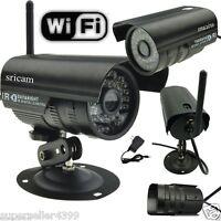 Wifi Network Ip Outdoor Ir Led Night Vision Security Camera Waterproof Black