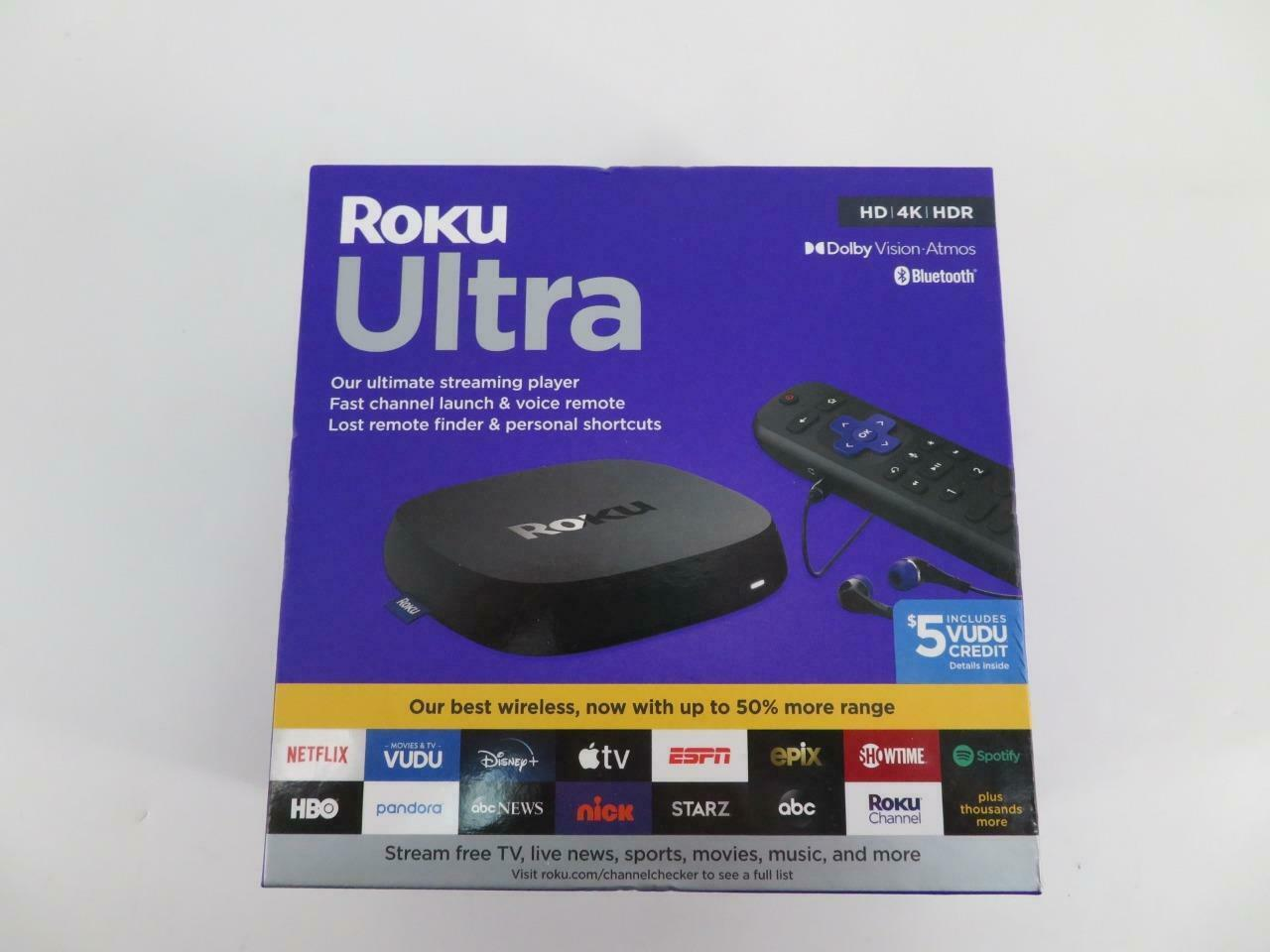 BRAND NEW ROKU ULTRA HD 4K HDR STREAMING MEDIA PLAYER 4800RW SEALED 4800rw brand hdr media new player roku sealed streaming ultra