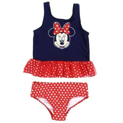Disney Minnie Navy and Red 2 Pc Swimsuit  2T 3T 4T