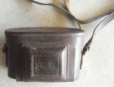 Vintage Leather Finetta 35mm Camera Case with Strap