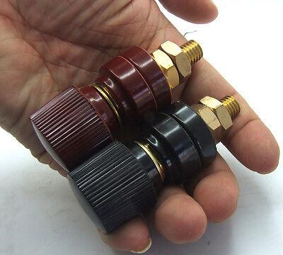 2PCS Copper Amplifier AC Power Resistant temperature 300A Binding Post Terminals