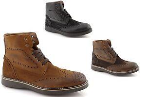 becab7705 Zapatos-botas-militares-para-hombres-de-cuero-botines-