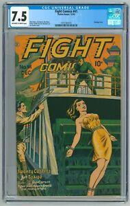 Fight Comics #41 CGC 7.5  (Fiction House, 12/1945) Joe Doolin Bondage Cover